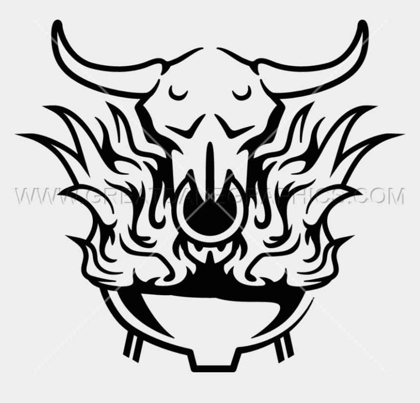 bbq clip art, Cartoons - Flaming Skull Bbq Production Ready Artwork For T Shirt - Bbq Skull Png