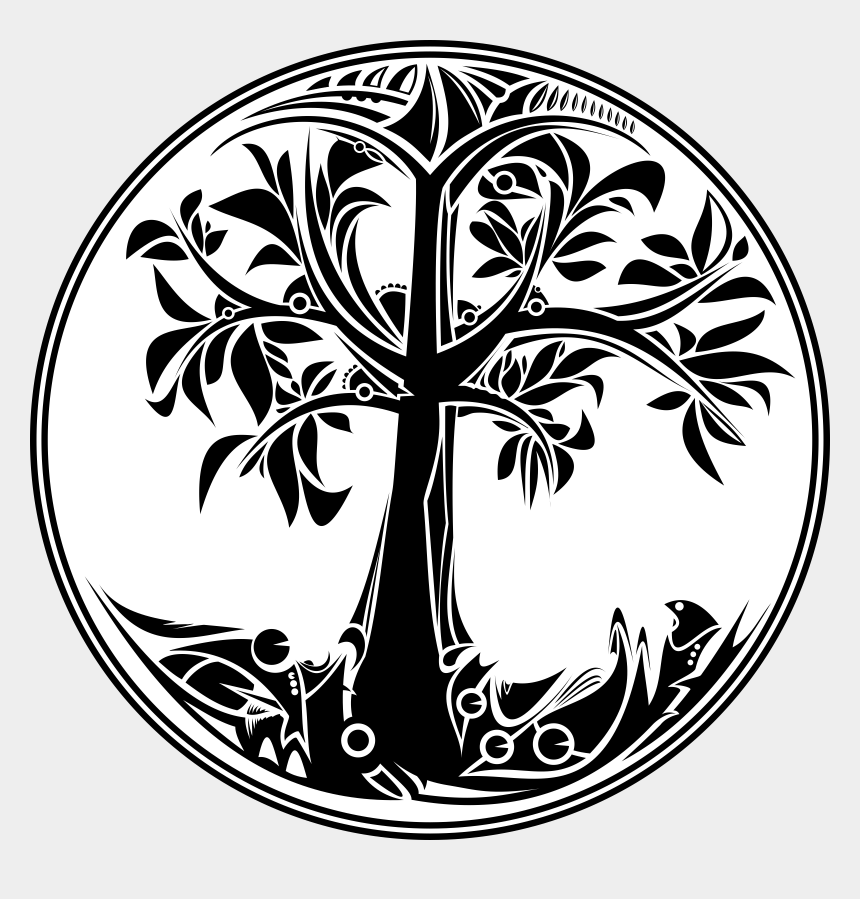 family tree clip art, Cartoons - Black And White Tree Of Life Png Transparent Black - Tree Of Life Icon