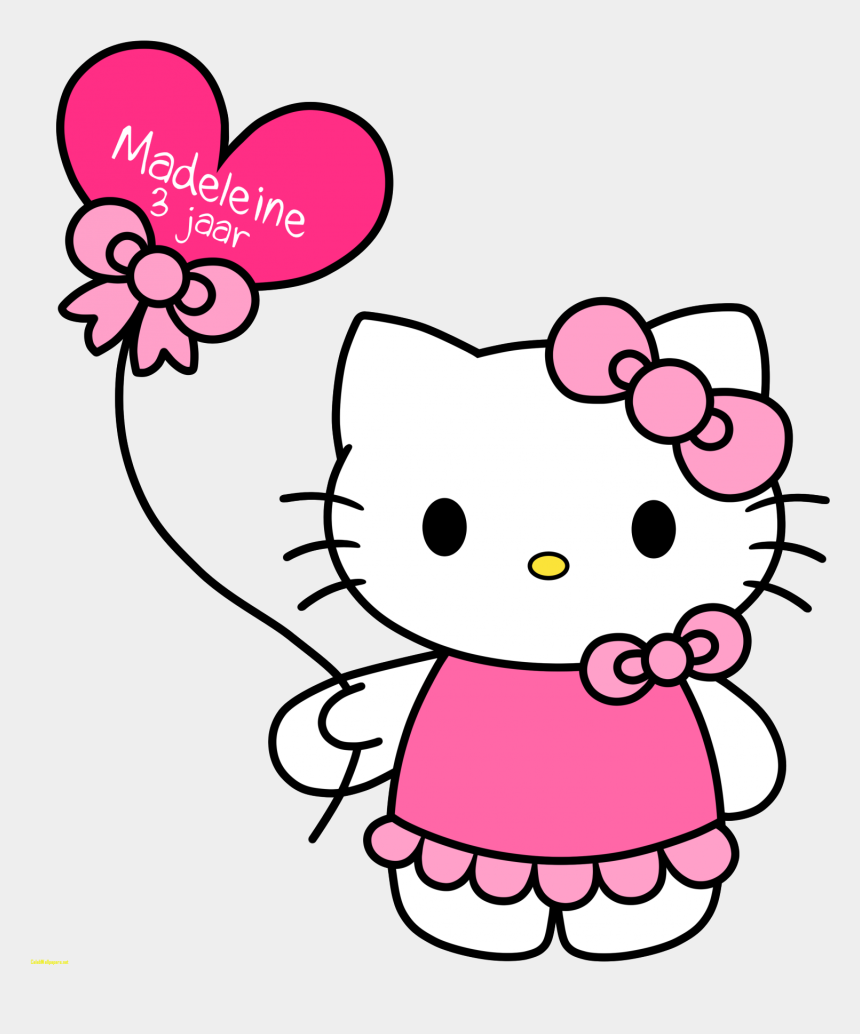 free easter clipart, Cartoons - Hello Kitty Pictures Hello Kitty With Balloons Free - Cute Hello Kitty Drawing