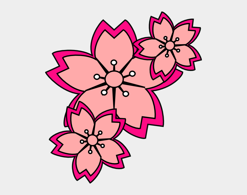 cherry blossom clip art, Cartoons - Cherry Blossom Free Clip Art Cliparts - Simple Cherry Blossom Art