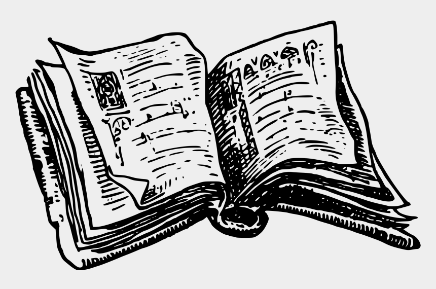 clip art book, Cartoons - 28 Collection Of Books Drawing Png - Open Book Clipart Black