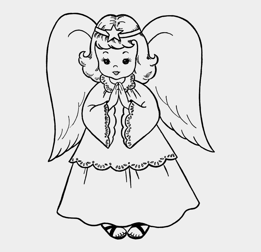 Christmas Angel Clipart.Christmas Angels Clipart Black And White Angel Drawing For