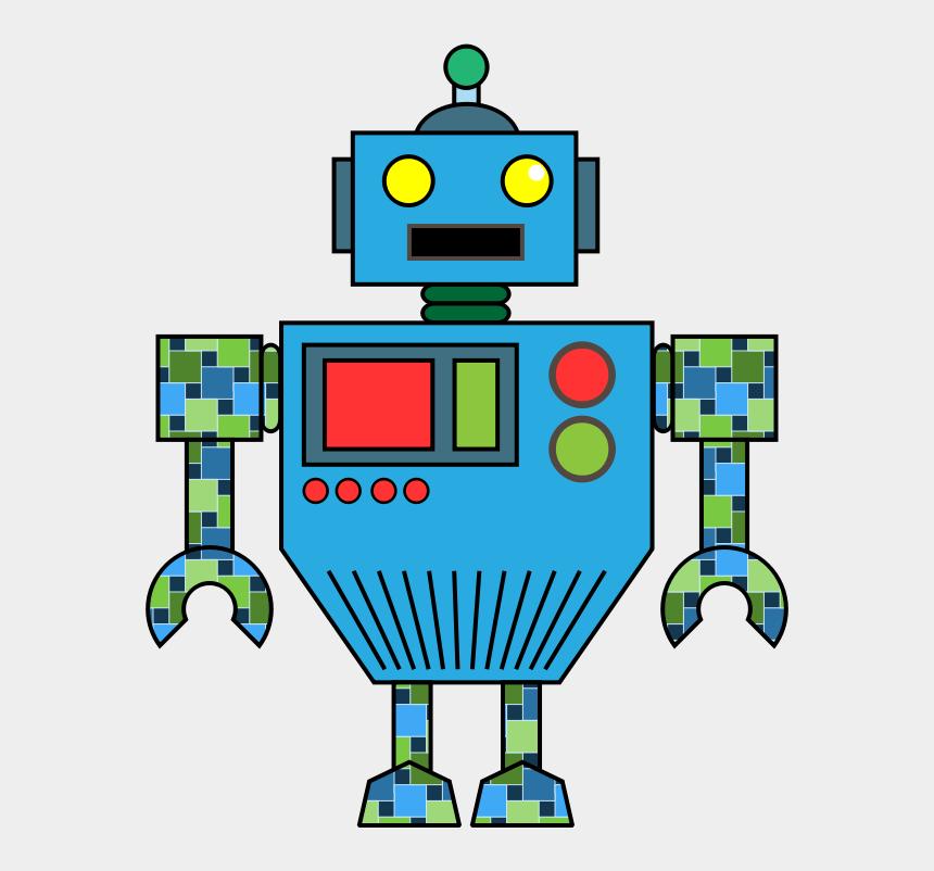 robot clip art, Cartoons - Robot Clip Art Black And White Free Clipart Images - Robot Clip Art
