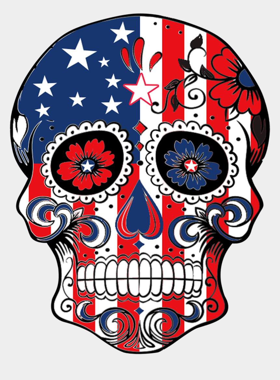 usa flag clip art, Cartoons - The Sugar Skull Usa Flag Design Will Make A Great T-shirt - Sugar Skull Good Design