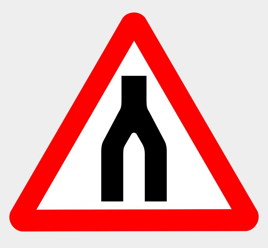 road clip art, Cartoons - Free Vector Road Signs Road Split Merge Clip Art - Traffic Light Road Sign
