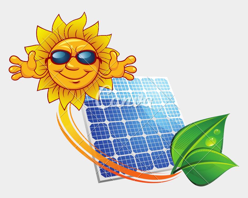 solar power clipart, Cartoons - Solar Panel Clipart Happy - Sources Of Energy Cartoon