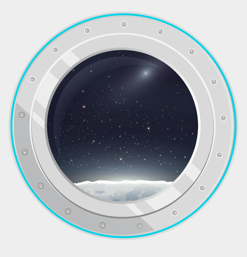 porthole clipart, Cartoons - View From Spaceship Sticker - Circle