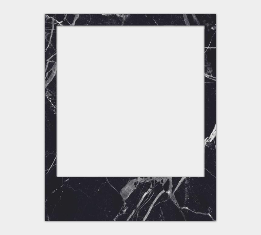 polaroid camera clipart black and white, Cartoons - Pack De Polaroids - Black Polaroid Frame Png