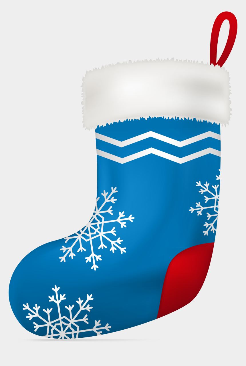christmas stocking clipart black and white, Cartoons - Stocking Clipart Boot - Blue Christmas Stocking Clipart