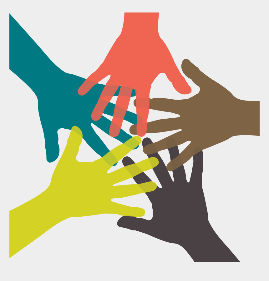 people working together clipart, Cartoons - Hands Together Png - Team High Five Icon