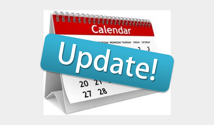 important update clipart, Cartoons - Calendar-update Important - Updated School Calendar