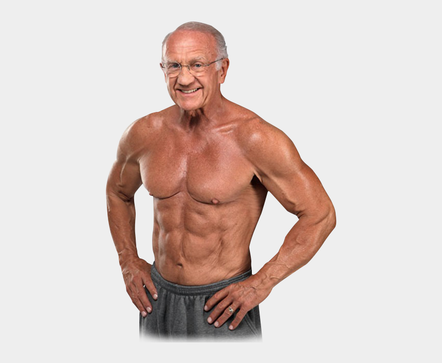 bodybuilders clipart, Cartoons - Bodybuilding Png - 50 Year Old Muscles