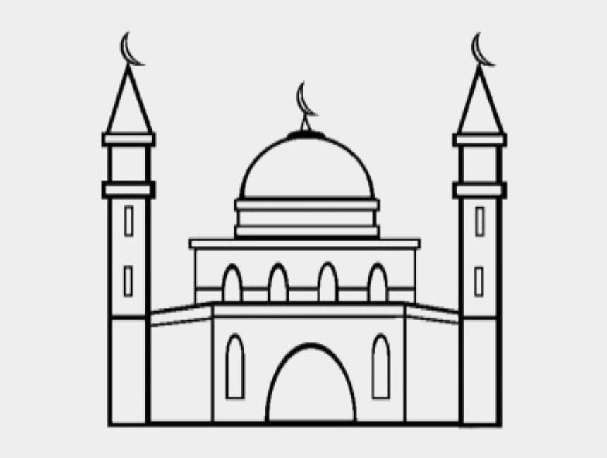 mosque clipart, Cartoons - Coloring Mosque / Masjid - Clip Art Of Mosque