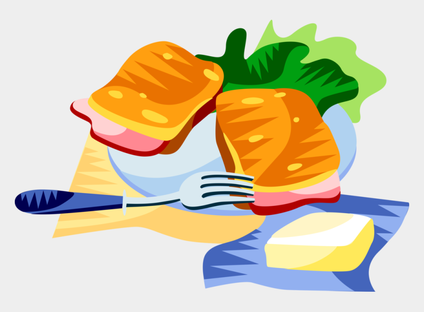 ham and cheese sandwich clipart, Cartoons - More In Same Style Group - Croque Monsieur Illustration Png