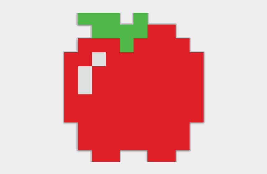 australiana clipart, Cartoons - 8 Bit Clipart Pac Man - 8 Bit Pacman Apple