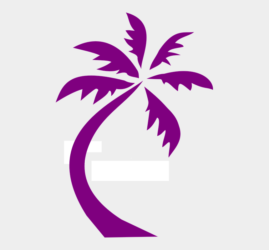 palm tree clipart png, Cartoons - Palm Tree Design Purple Silhouette - Transparent Palm Tree Clip Art