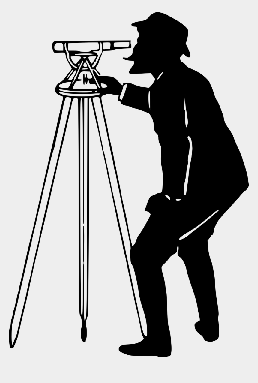 surveying clipart, Cartoons - Camera Silhouette Png - Surveyor Clipart