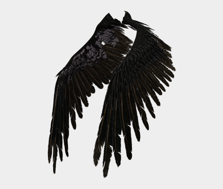 eagle wings spread clipart black and white, Cartoons - Angel Wings Png Tumblr - Крылья Демона Своими Руками