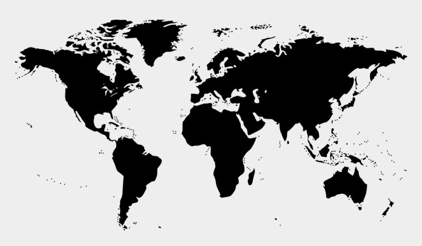 treasure map clipart black and white, Cartoons - World Map, Map, World, Black, Earth - World Map Icon Png