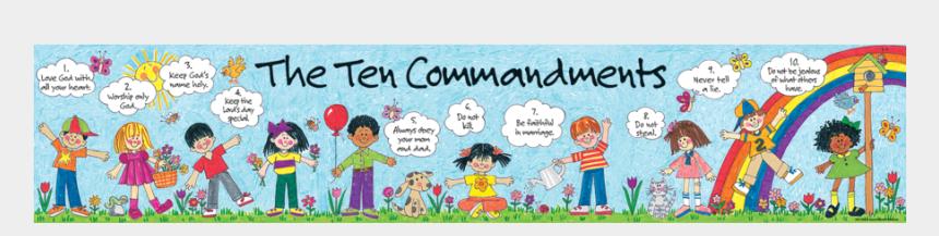 ten commandments clipart, Cartoons - Tcr7005 Children's Ten Commandments Banner Image - Portable Network Graphics
