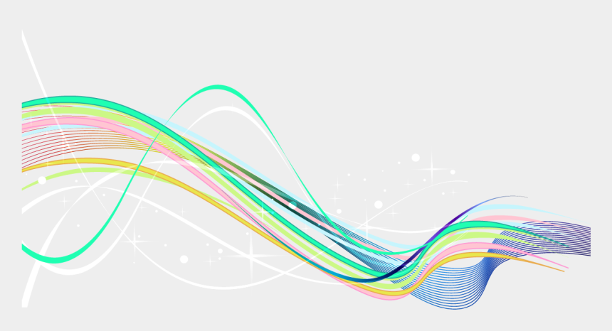 curve clipart, Cartoons - Rainbow Lines Color Curve - Graphic Design