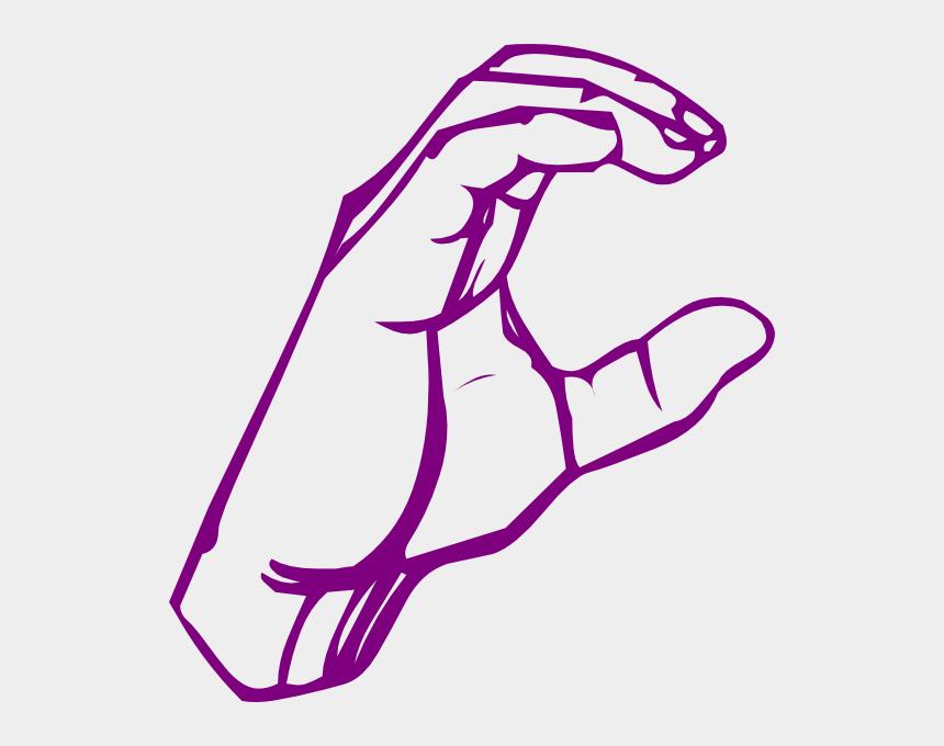 hand holding pencil clipart, Cartoons - C Clip Art At Clker Com Vector Ⓒ - Sign Language Letter C