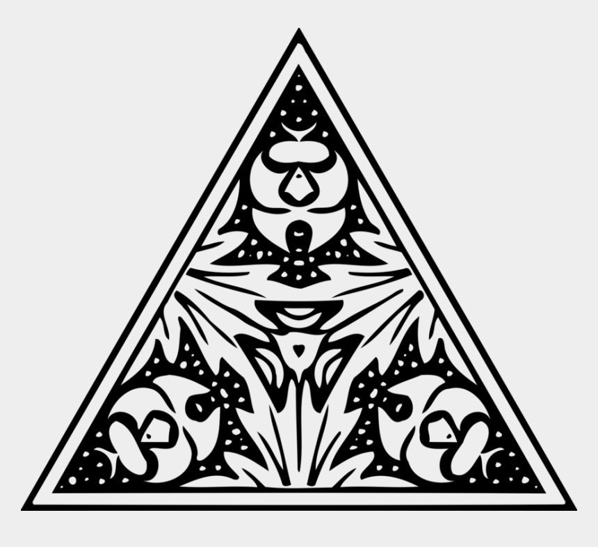 celtic clipart, Cartoons - Tattoo Celts Triangle Celtic Knot High Cross - Design In Triangle For Drawing