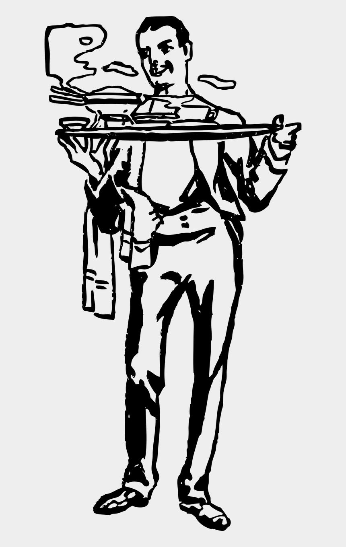 waiter clipart black and white, Cartoons - Vector Graphics - Español En El Restaurante