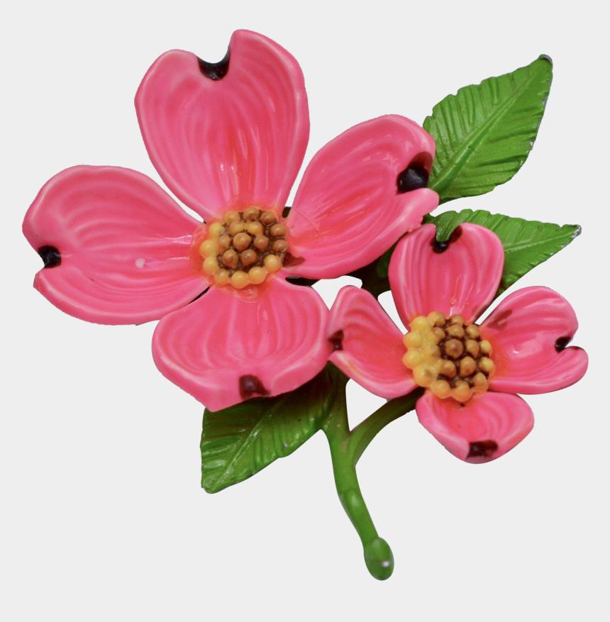 dogwood flower clipart, Cartoons - Bright Pink Enamel Dogwood Flower Brooch - Artificial Flower