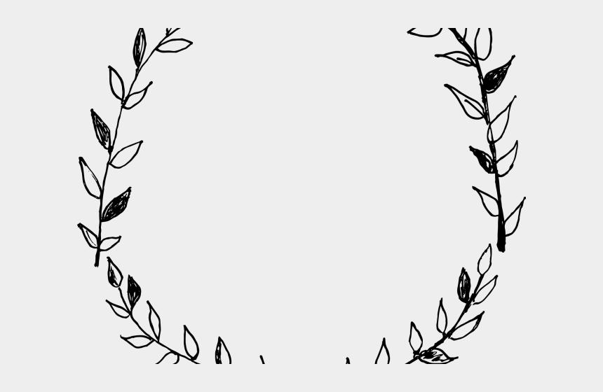 leaf vine clipart, Cartoons - Drawn Leaf Vine Wreath - Hand Drawn Wreath Png