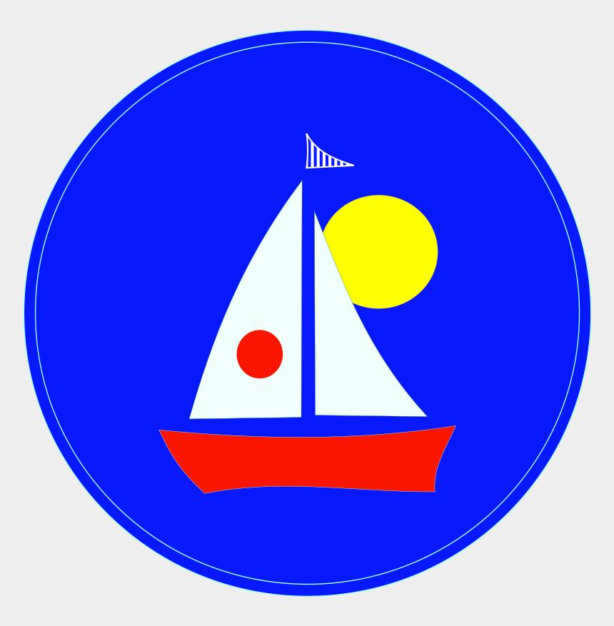 blue sailboat clipart, Cartoons - Clipart Of Register, Blue Boat And Blue Sailboat - Circle