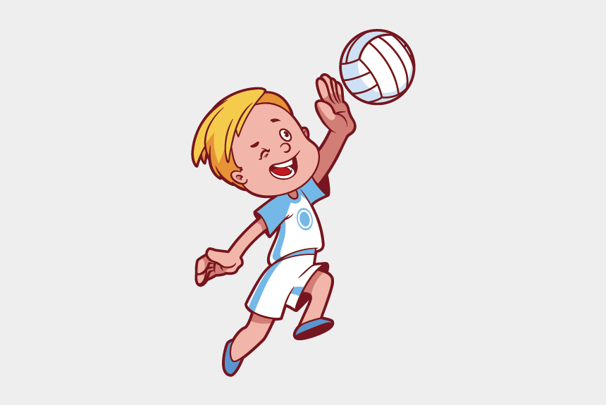 volley ball clipart, Cartoons - Volleyball Png Best On - Children Playing Volleyball