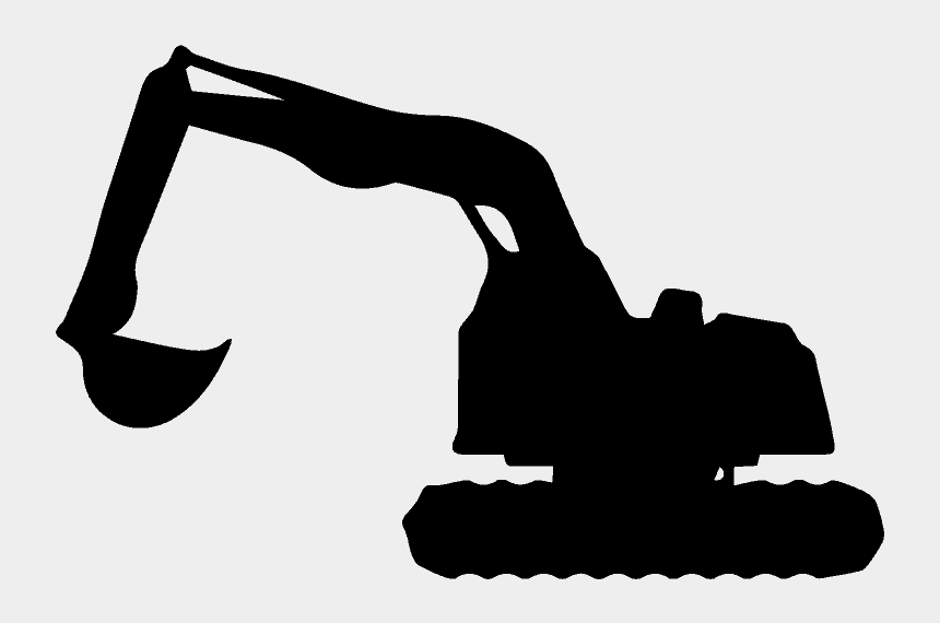 black and white backhoe clipart, Cartoons - Excavation In Ottawa By Brenning Paving And Construction - Backhoe Vector