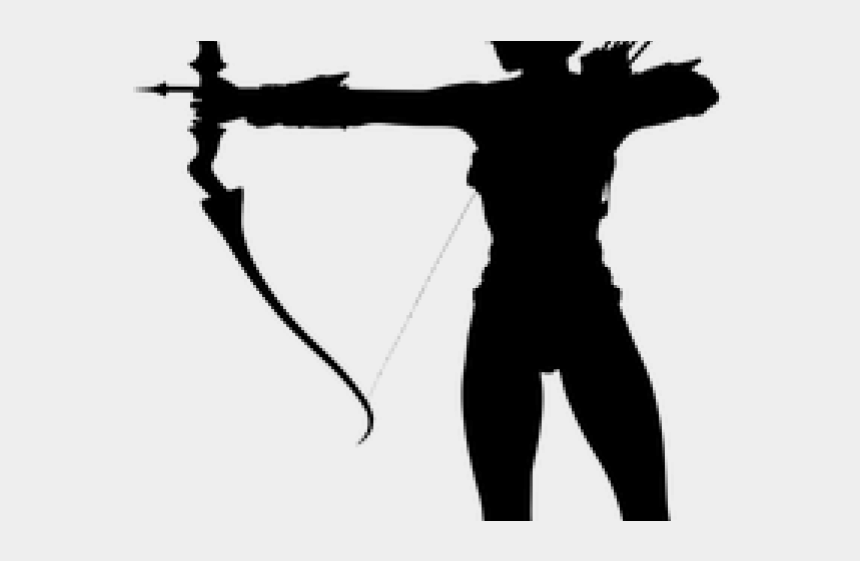 archer clipart, Cartoons - Weapon Clipart Archer Bow - Silhouette Warrior Woman Png