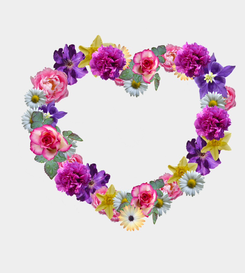 mothers day flowers clipart, Cartoons - Floral Wreath Png - Fundo Para O Dia Das Mães Png