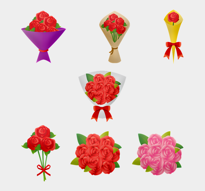 mothers day flowers clipart, Cartoons - Rose Bouquet Roses Mother's Day Bouquet Wedding - バラ の 花束 イラスト