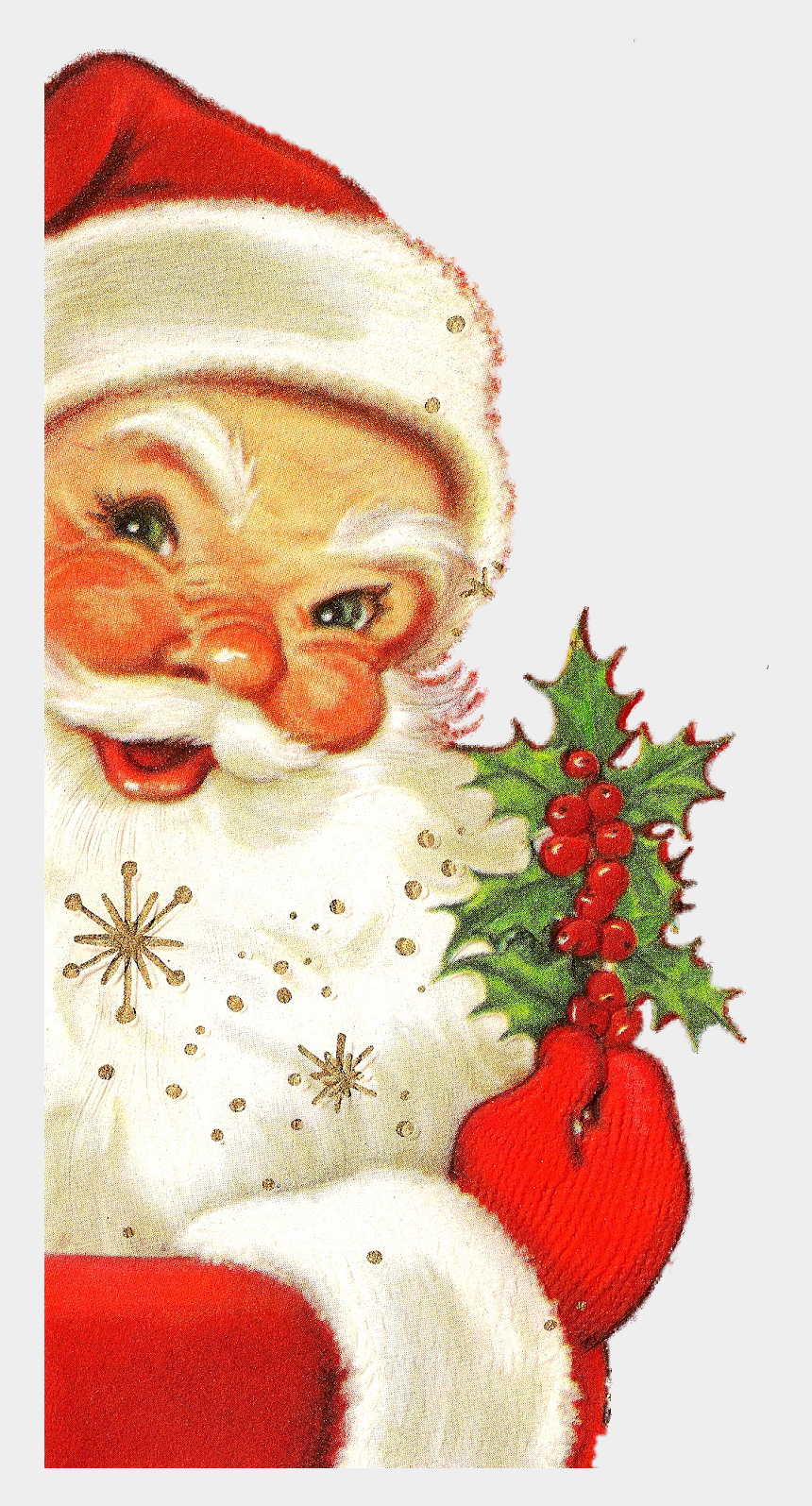 peek clipart, Cartoons - Christmas Father Png - Vintage Santa Merry Christmas