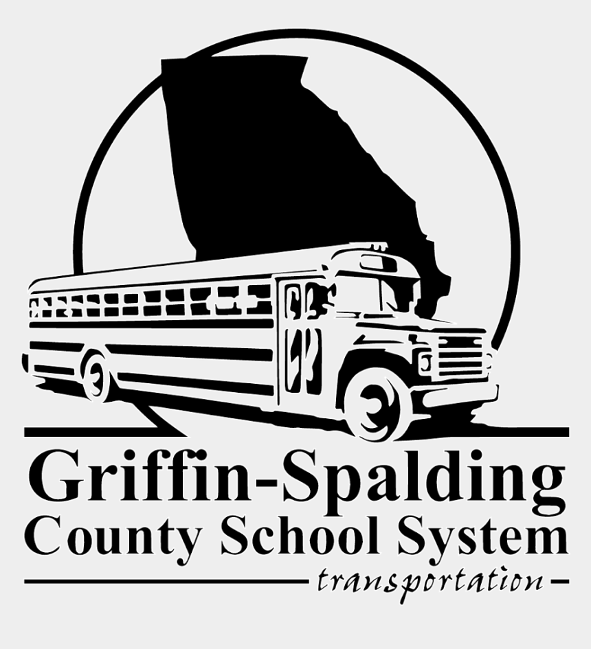 school bus clipart black and white, Cartoons - Griffin Spalding County System Transportation Griffinspalding - Griffin Spalding County Logo