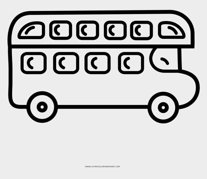 double decker bus clipart, Cartoons - Double-decker Bus Coloring Page - Line Art