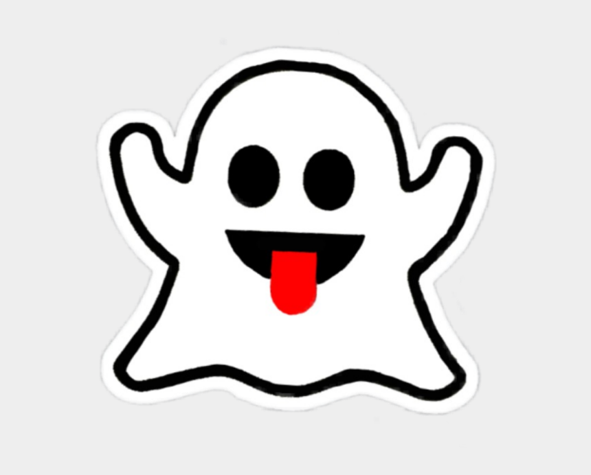 ghost clipart black and white, Cartoons - #boo #ghost #cute #white #kawaii #black #emot #snapchat - Brandy Melville Sticker Ghost
