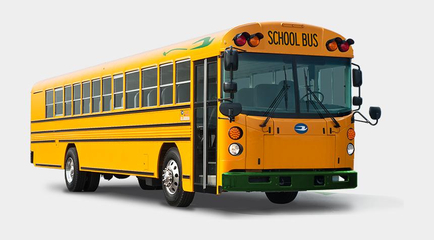 double decker bus clipart, Cartoons - New School Buses - Bluebird Electric School Bus