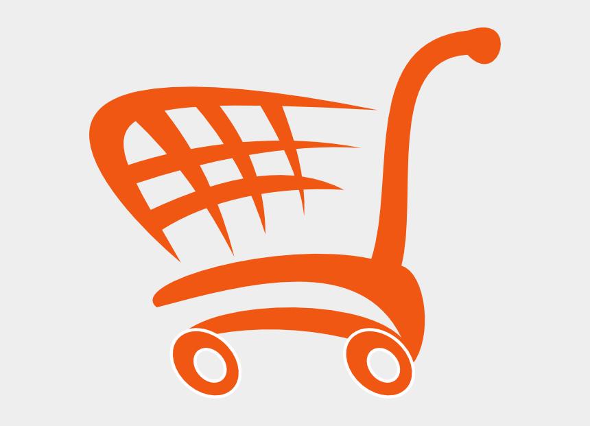 shopping trolley clipart, Cartoons - Blue Shopping Cart Png