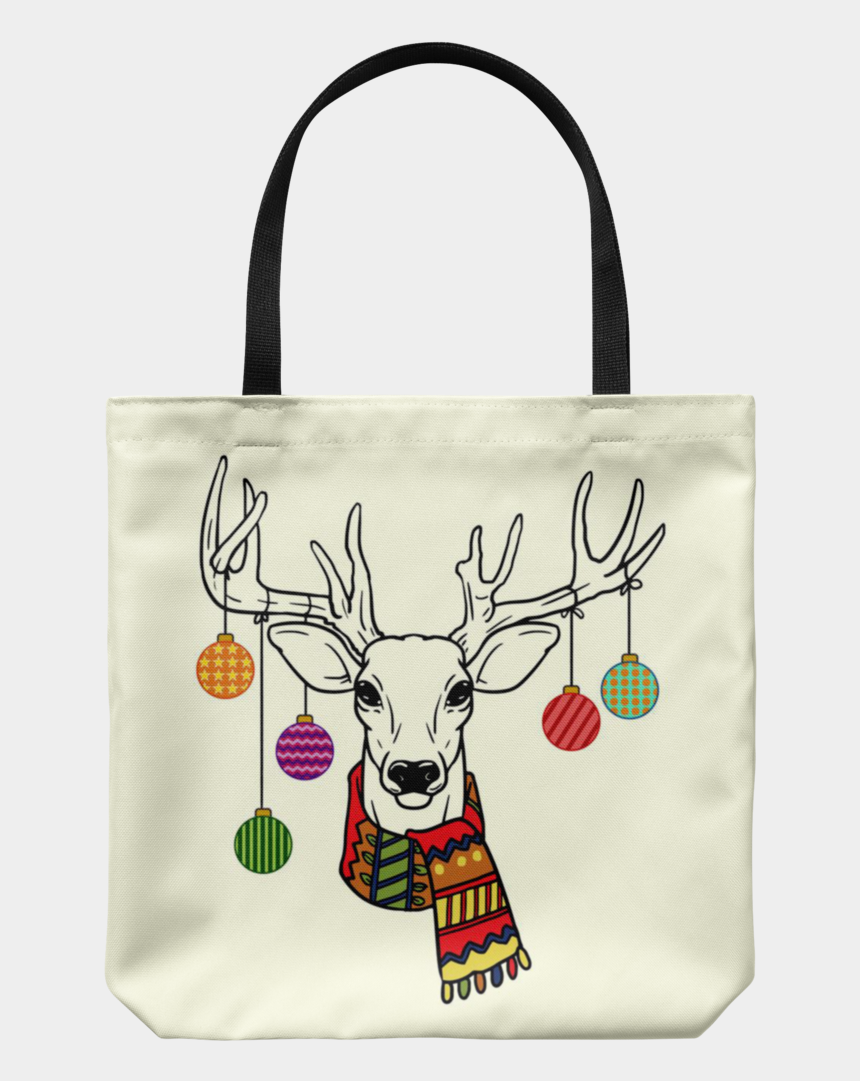 grocery bag clipart, Cartoons - Christmas Ornaments Deer Tote Reusable Grocery Bag, - Tote Bag