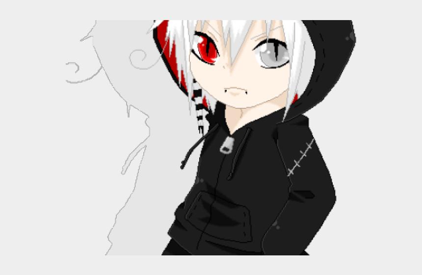 boy hair clipart, Cartoons - Manga Boy Clipart Dyed Hair - Chibi Anime Cool Boy