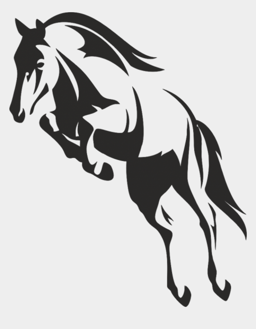 Vector Mustang Animal Horse Black And White Draw Cliparts