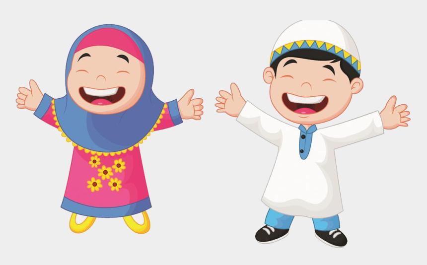 muslim clipart, Cartoons - Muslim Cartoon Child Illustration - Gambar Kartun Anak Muslim
