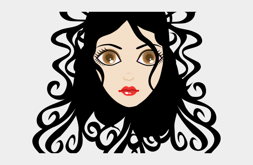 Curl Clipart Wavy Hair Curly Hair Girl Chibi Drawing