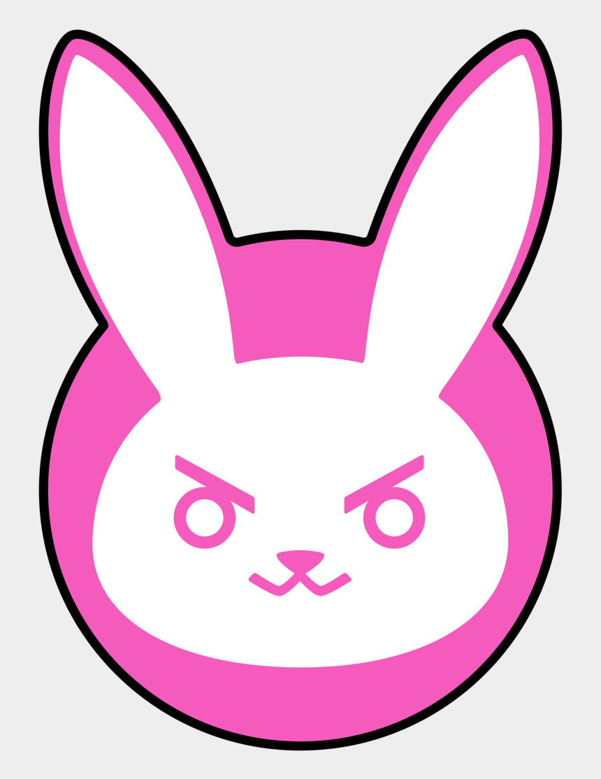 what happened to clipart, Cartoons - Bunny Outline Cliparts - Dva Overwatch Logo