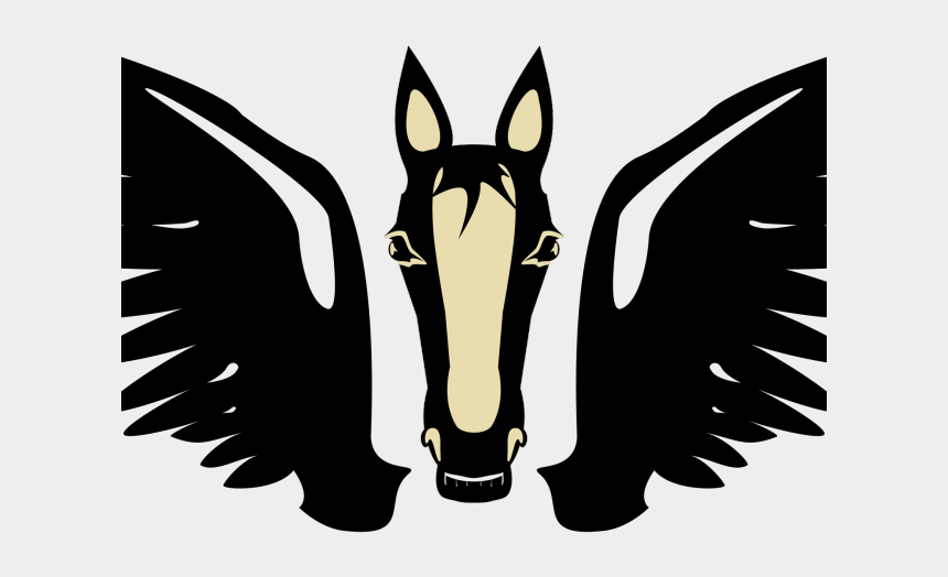 what happened to clipart, Cartoons - Pegasus Clipart Transparent - Front Of Horse Head Silhouette