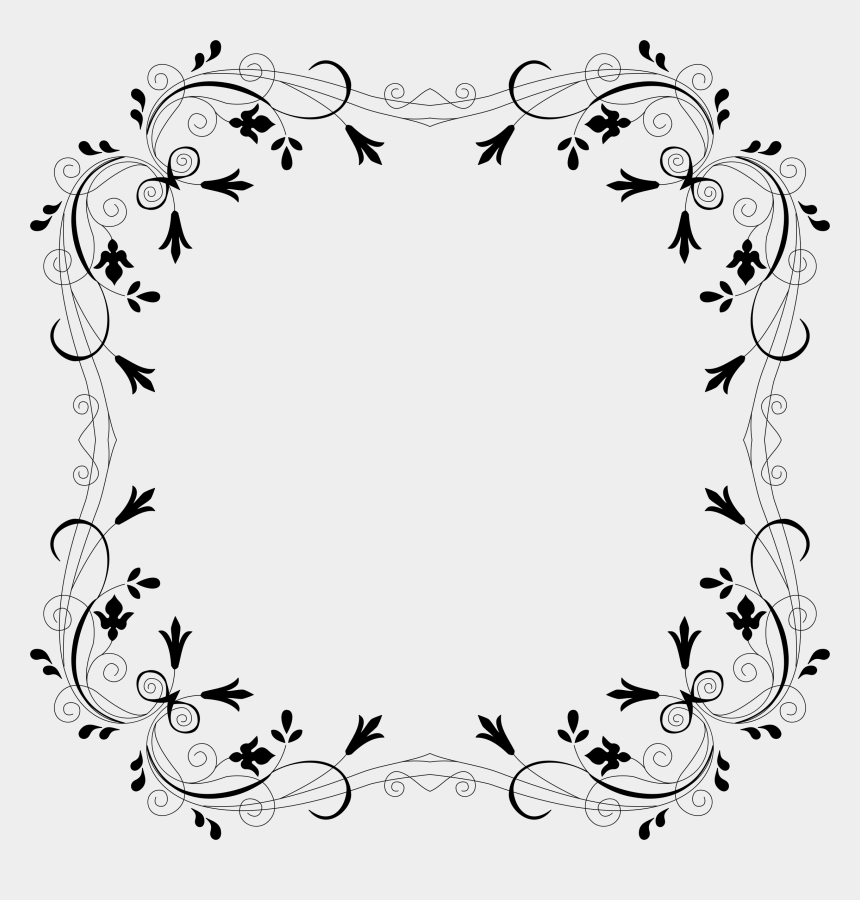flowers clipart black and white border, Cartoons - This Free Icons Png Design Of Cyberscooty Floral Border - Floral Frame Borders Black And White
